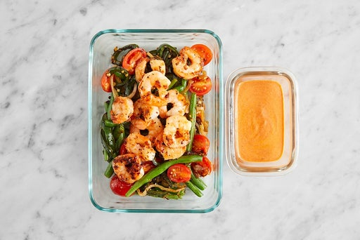 Assemble & Store the Mexican-Style Shrimp