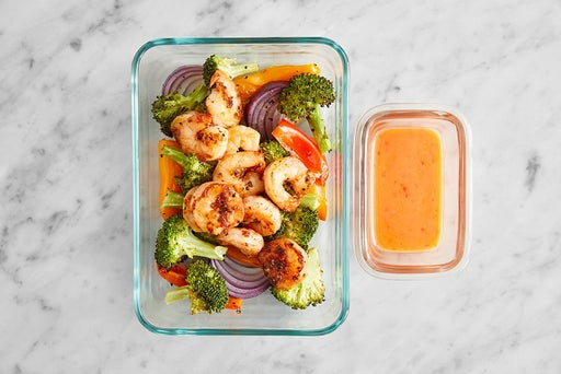 Assemble & Store the Asian Shrimp & Vegetables
