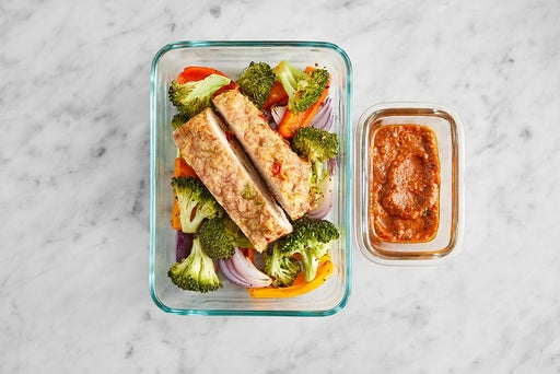 Assemble & Store the Turkey Meatloaf & Romesco Ketchup