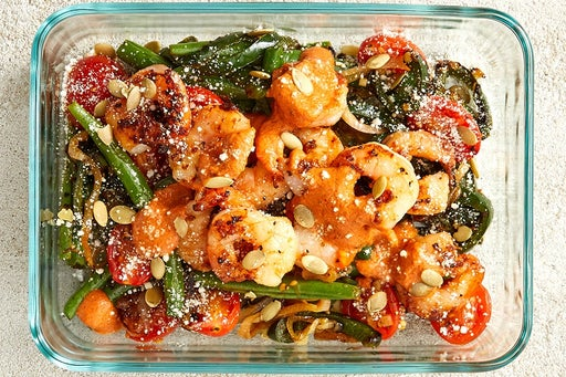 Finish & Serve the Mexican-Style Shrimp