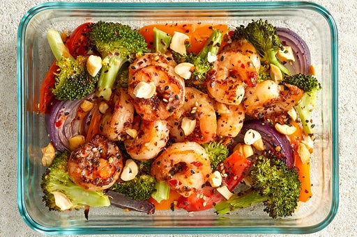 Finish & Serve the Asian Shrimp & Vegetables