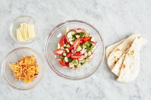 Prepare the ingredients & make the salad