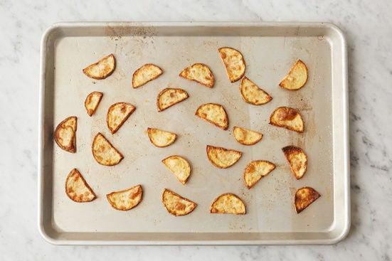 Prepare & roast the potato: