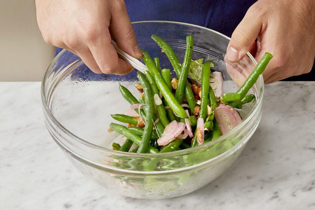 Make the green bean salad: