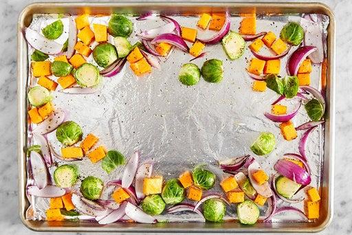 Season the vegetables
