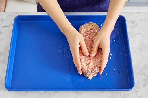 Form & start the meatloaf