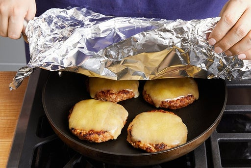 Cook the patties: