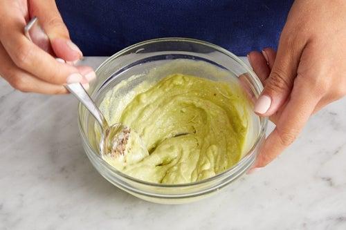 Make the creamy guacamole & serve your dish
