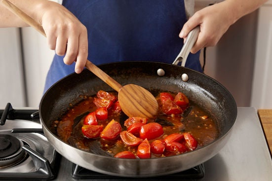 Make the tomato fondue & serve your dish: