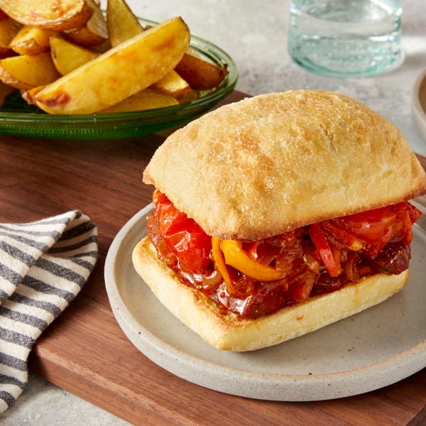 Italian Sausage & Pepper Sandwiches with Roasted Prince of Orange Potatoes