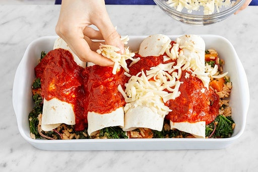 Bake the enchiladas & serve your dish