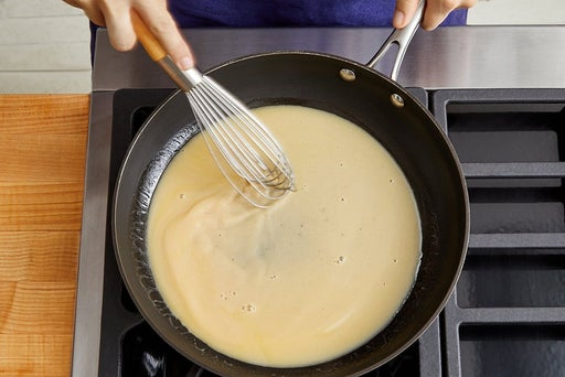 Make the pan sauce & serve your dish