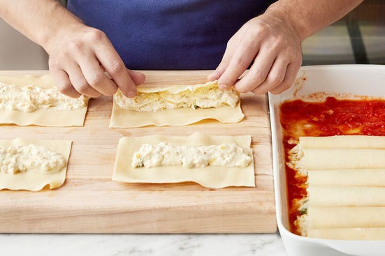 Assemble & bake the cannelloni: