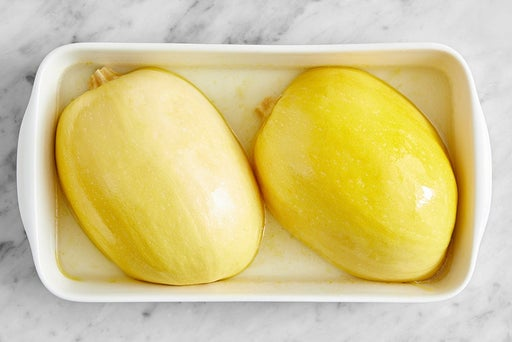 Prepare & cook the spaghetti squash