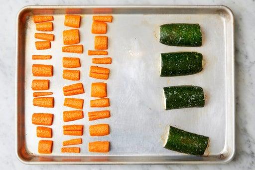 Roast & finish the vegetables