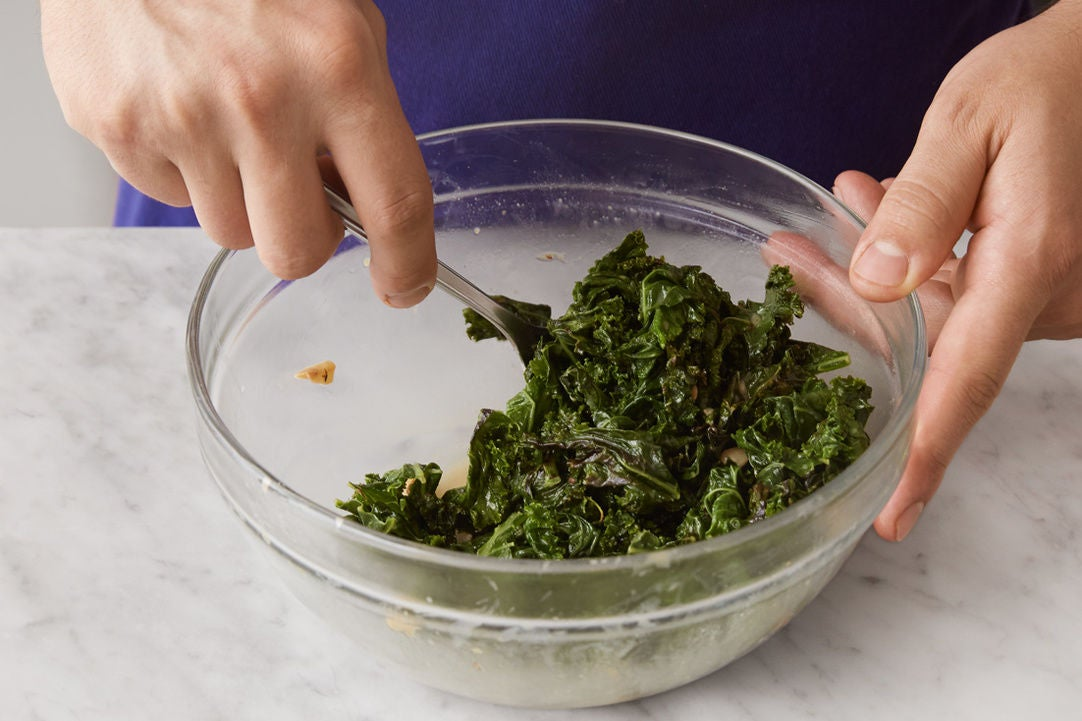Cook & dress the kale: