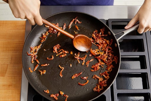 Crisp the prosciutto & serve your dish