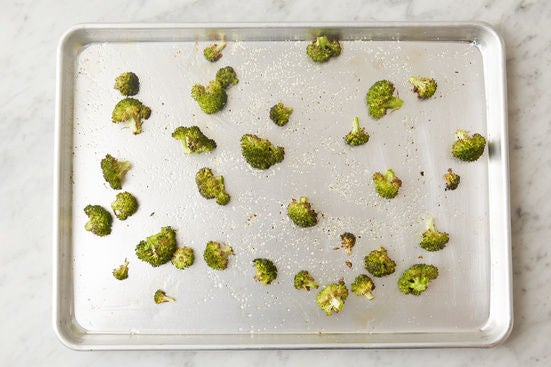 Roast the broccoli: