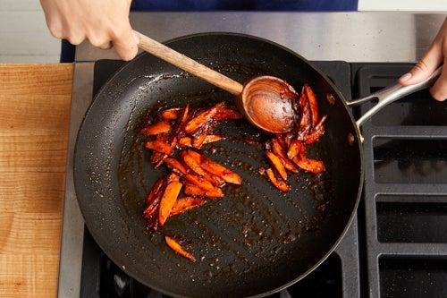 Cook & glaze the carrots