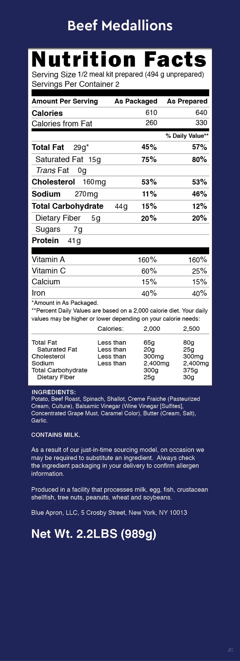 Nutrition Label