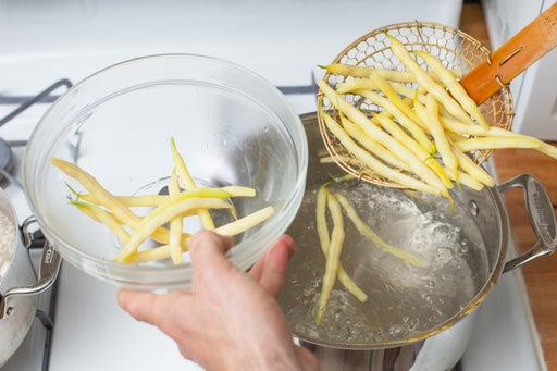 Cook the wax beans:
