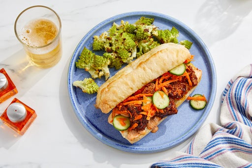 Tofu Bánh Mì with Sesame-Roasted Romanesco