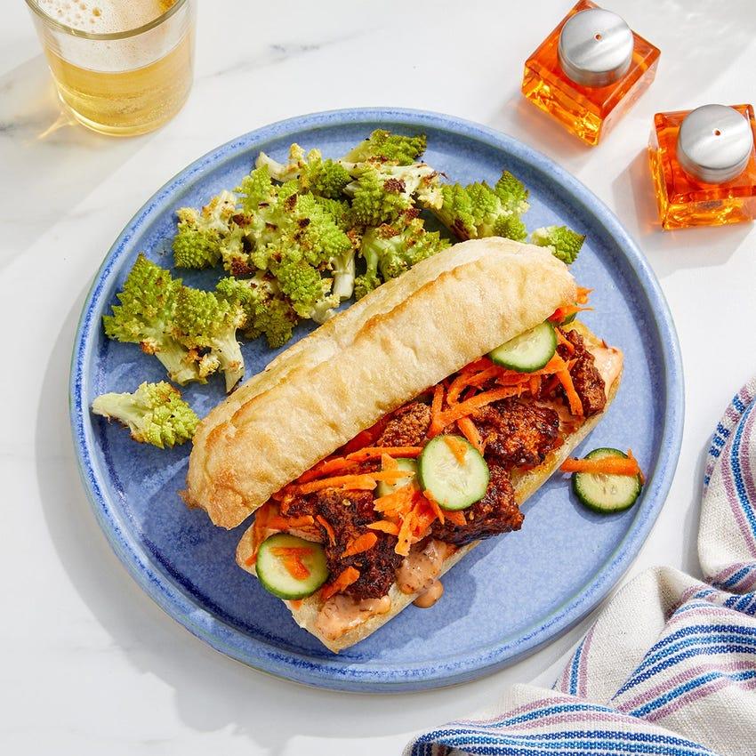 Tofu Bánh Mì with Sesame-Roasted Romanesco