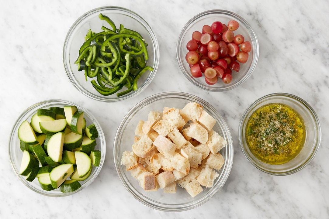 Prepare the ingredients & make the salsa verde: