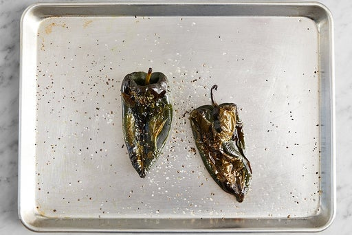 Roast the poblano peppers