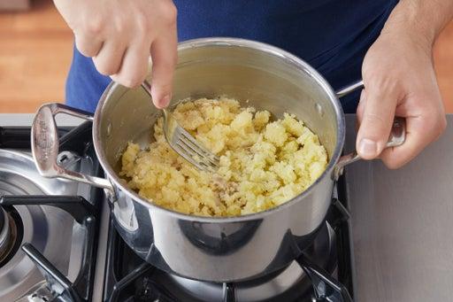 Cook & mash the potatoes: