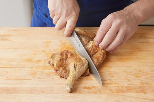 Carve the chicken & plate your dish:
