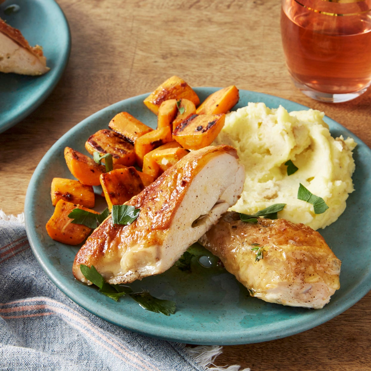 Skillet Chicken With Roasted Potatoes Carrots Recipe: Roast Potatoes And Carrots With Chicken