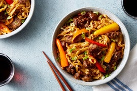 Sweet & Spicy Beef with Fresh Wonton Noodles