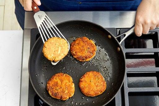 Make the potato cakes & serve your dish