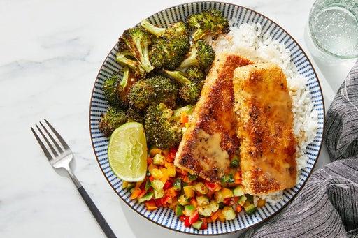 Tofu Katsu & Soy Mayo with Marinated Vegetables & Roasted Broccoli