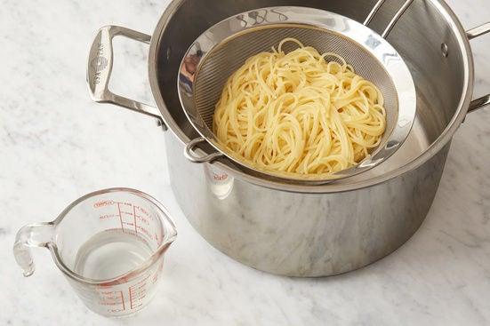 Cook the spaghettini: