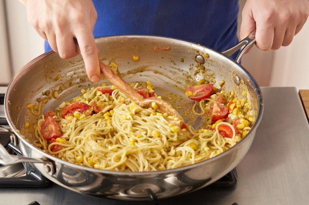 Finish the spaghettini: