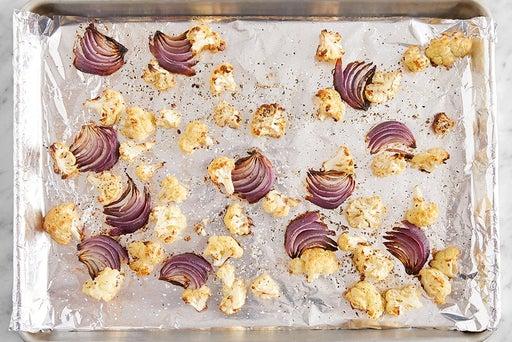 Roast the cauliflower & onion