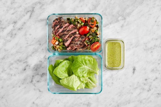 Assemble & Store the Steak Lettuce Cups & Herbed Mayo