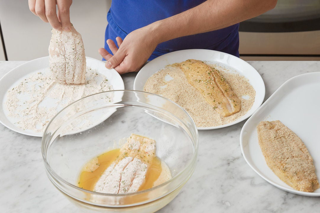 Bread the catfish: