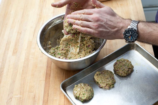 Bake the falafels: