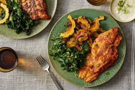 Crispy Buttermilk Catfish with Roasted Delicata Squash