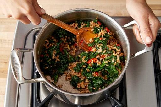 Finish the farro & serve your dish