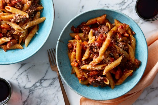 Penne Pasta & Beef Bolognese with Pecorino Cheese