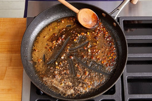 Make the pan sauce & serve your dish