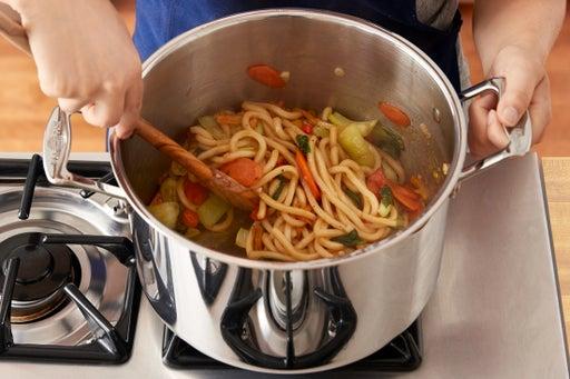 Make the lo mein:
