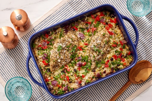 Baked Chicken & Zucchini Rice Casserole with Fontina & Parmesan Cheese
