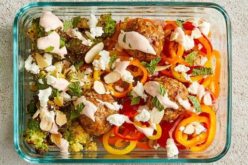 Finish & Serve the Turkey Meatball Lettuce Cups