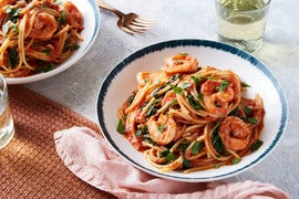 Shrimp & Spaghetti Marinara with Spinach