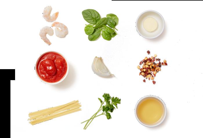 Shrimp & Spaghetti Marinara with Spinach